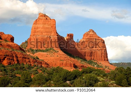 Sandstone Rock Formations - Sedona, Arizona - stock photo