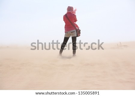 Sandstorm - stock photo