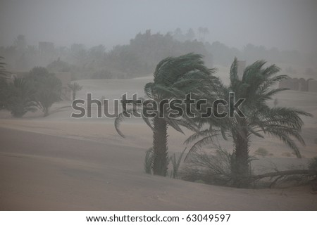 Sandsturm in der Sahara, Marokko - stock photo