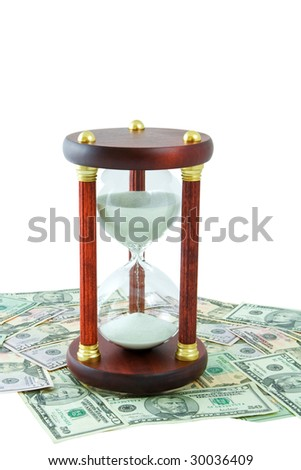 sandwach on a money background - stock photo