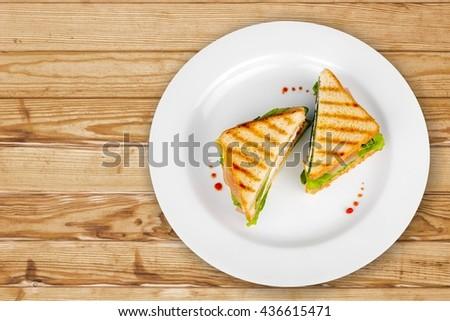 Sandwich. - stock photo