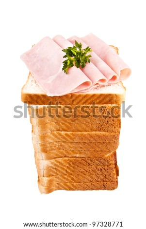 sandwich bread - stock photo