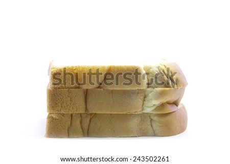 Sandwich brown edge in layers on white background