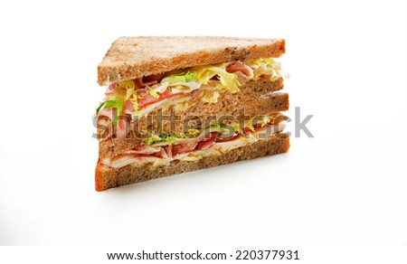 Sandwich club - stock photo