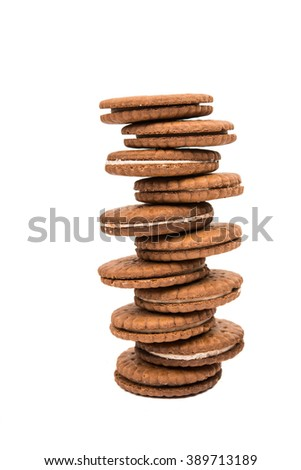sandwich cookies isolated on white background