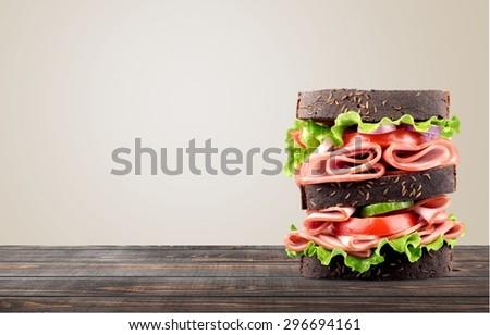 Sandwich, Food, Lunch. - stock photo