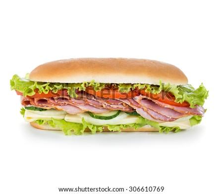 sandwich isolated - stock photo