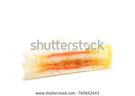 Sandwich isolated on white background.