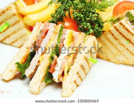 Sandwich on a Plate closeup