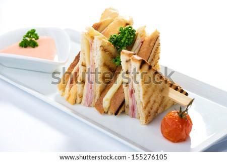 Sandwich toast   - stock photo