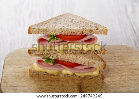 sandwich toast grilled with cheese and ham