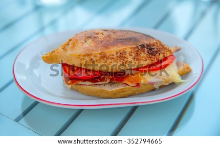 Sandwich (Turkish name is Kumru) - stock photo