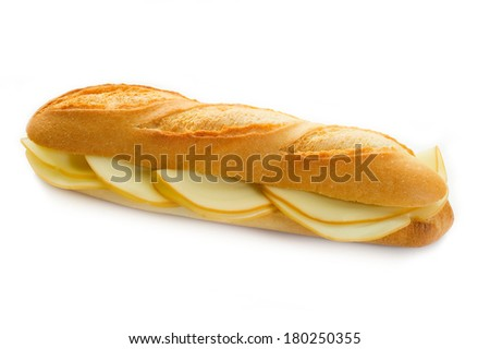 sandwich with cheese - stock photo