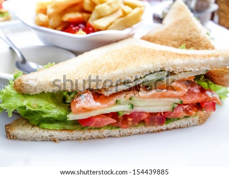 ... mozzarella sandwich salami sandwich on wooden surface whit farmhousel