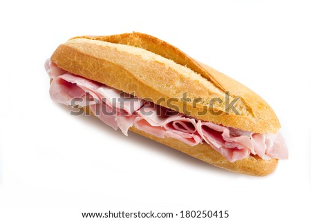 sandwich with cooked ham