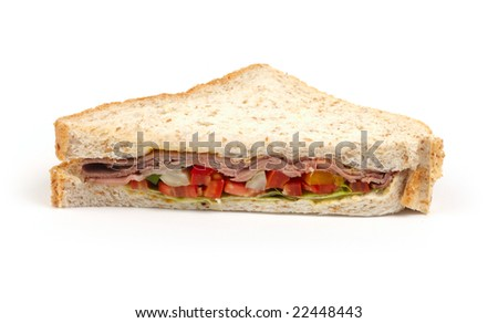 sandwich with meat and salad