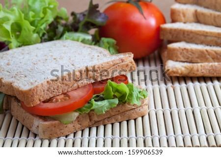 sandwich with tomato and vegetables