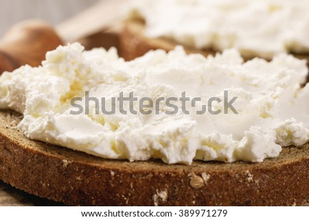 sandwiches with rye bread and cream cheese vintage toned