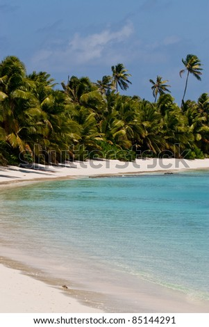 Sandy beach on Direction Island in Cocos (Keeling) Islands, Australia