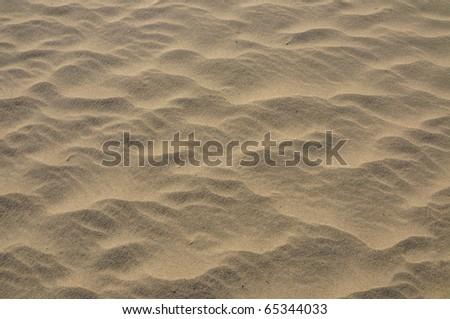 Sandy desert - stock photo