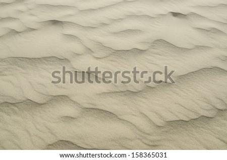 Sandy waves texture & beetle trails - stock photo