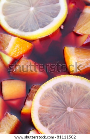 Sangria, closeup - stock photo