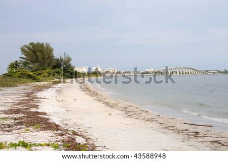 Sanibel Island Bridge, Florida - stock photo