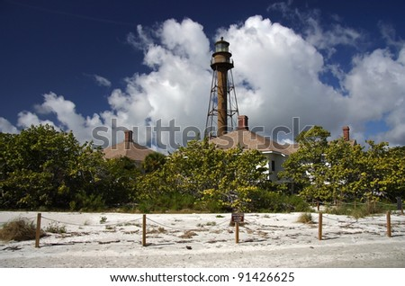 Sanibel Island Lighthouse in Sunny South Florida - stock photo