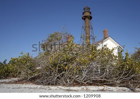 Sanibel Island lighthouse, Sanibel Florida America united states taken in march 2006 - stock photo