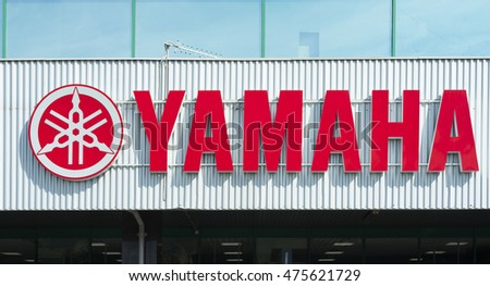 Sankt-Petersburg, Russia - August 27, 2015: Yamaha is a Japanese multinational corporation based in Japan with a wide range of products and services like musical instruments, electronics, motorcycles.