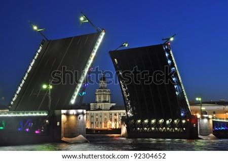 Sankt Petersburg sightseeing White Nights - stock photo