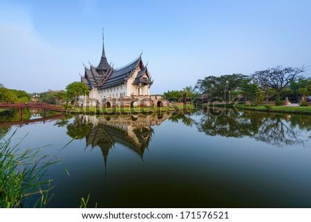 Sanphet Prasat Palace, Ancient City, Bangkok, Thailand - stock photo