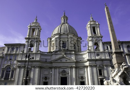 Sant'Agnese in Agone, Piazza Navona, Rome, Italy