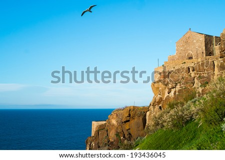 Sant Antonio abate church in Castelsardo fortress, Sardinia, Italy