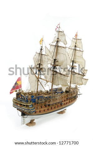 Sant Felipe a Spanisch galleon as a war ship