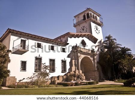Santa Barbara County Courthouse - stock photo