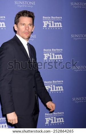 SANTA BARBARA - FEB 5:  Ethan Hawke at the Santa Barbara International Film Festival - American Riviera Award at a Arlington Theater on February 5, 2015 in Santa Barbara, CA - stock photo