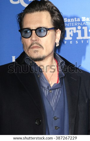 SANTA BARBARA - FEB 4:  Johnny Depp at the 31st Santa Barbara International Film Festival - Maltin Modern Master on February 4, 2016 in Santa Barbara, California - stock photo