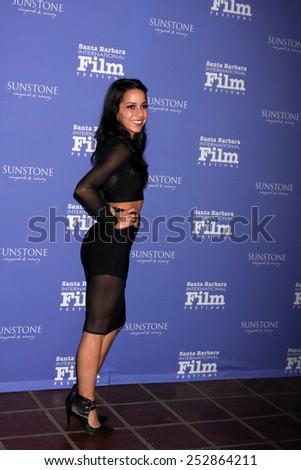 SANTA BARBARA - FEB 5:  Paola Baldion at the Santa Barbara International Film Festival - American Riviera Award at a Arlington Theater on February 5, 2015 in Santa Barbara, CA - stock photo