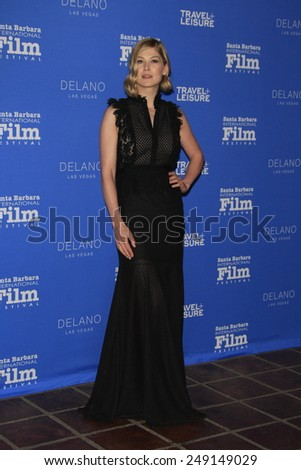 SANTA BARBARA - FEB 1: Rosamund Pike at the Virtuosos Award at the 30th Santa Barbara International Film Festival at the Arlington Theatre on February 1, 2015 in Santa Barbara, CA - stock photo
