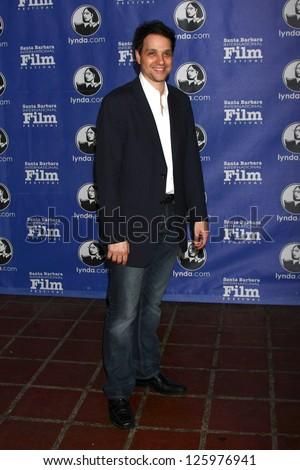 Santa Barbara - JAN 25:  Ralph Macchio arrives at the 2013 SBIFF Modern Masters Award presented to Ben Affleck at Arlington Theater on January 25, 2013 in Santa Barbara, CA - stock photo