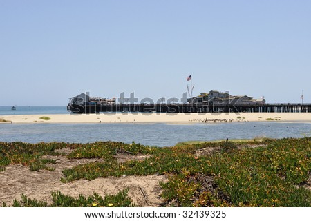 Santa Barbara Pier - stock photo