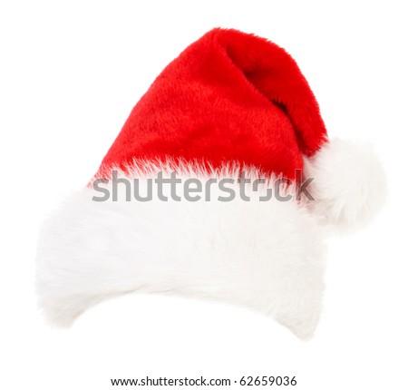 Santa Cap.  Isolated over white background - stock photo