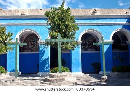 santa catalina monastery in arequipa - stock photo