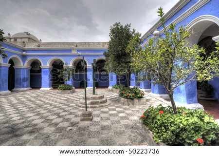 Santa Catalina Monastery in Arequipa Peru - stock photo