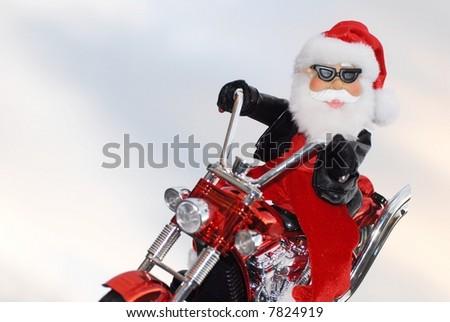 santa chopper - stock photo