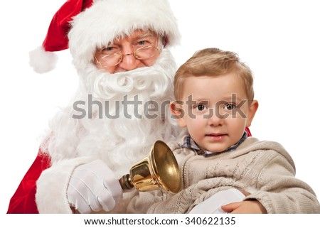 santa claus and happy child