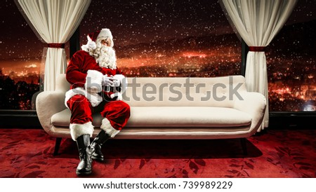 Santa claus and xmas time