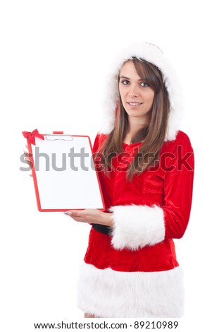 Santa Claus at Christmas with an empty letter to be desired