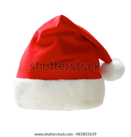 santa claus cap front view isolated on a white background